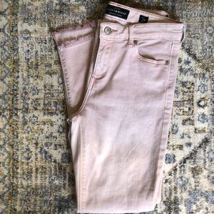 Lucky Brand AVA SKINNY Ankle Jeans Pink Size 6